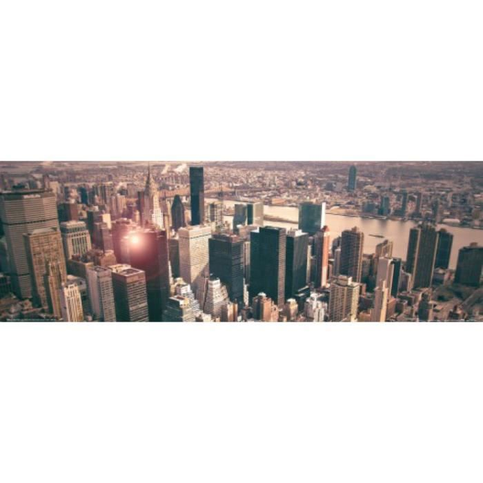 new york poster vue sur manhattan de l 39 empire achat