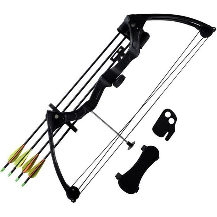 Arc à poulies pour adolescent avec accessoires et flèches en aluminium-XIL
