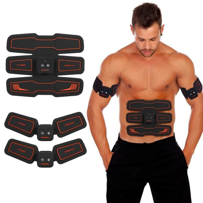 Stimulateur électronique de muscles stimulateurs et système de ceinture Vibration Muscle Abs sans fil HURRISE
