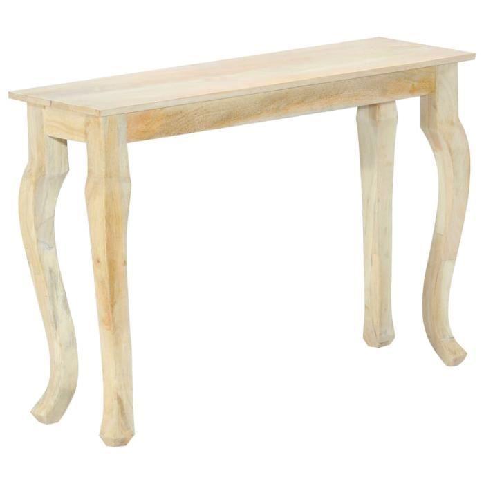 INGSHOP© Table console 110 x 35 x 77 cm Bois de manguier massif Surface polie et laquée