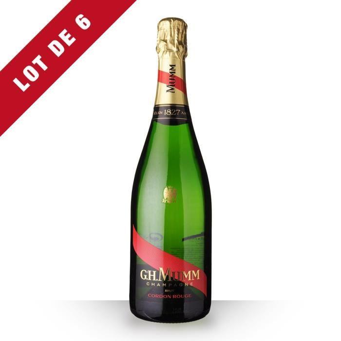 6X Mumm Cordon Rouge Brut 75cl - Champagne
