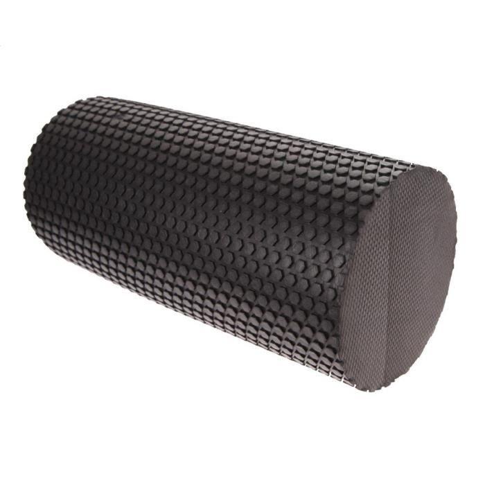 Rouleau de mousse de Yoga 30cm exercice de gymnastique bloc de Yoga Fitness EVA Point de déclenchement flottant pour - Black YIWA496