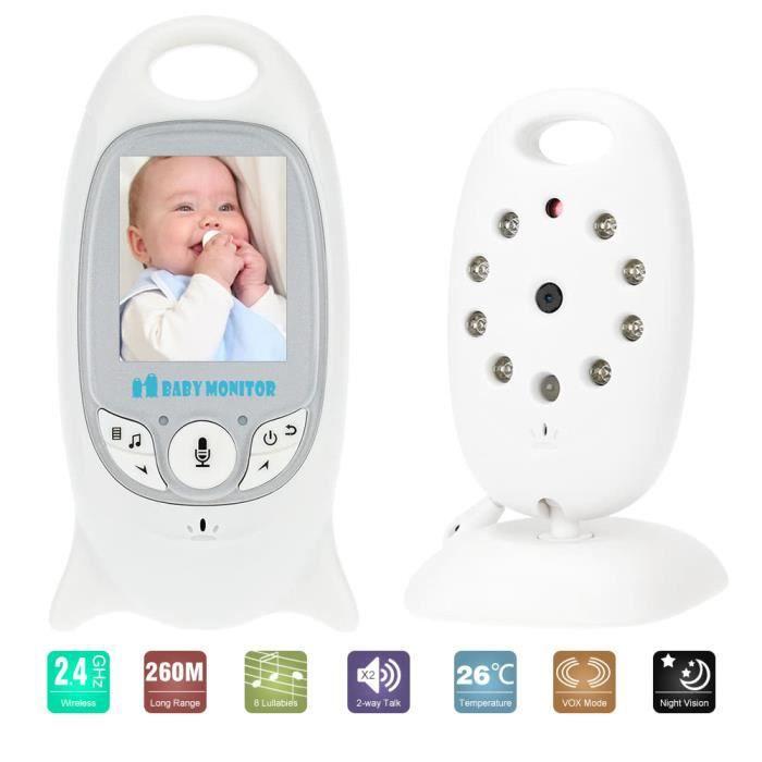 BABY PHONE - ECOUTE BEBE,VB601 moniteur vidéo sans fil Batterie Rechargeable, caméra de nounou avec affichage de 2 - Type EU PLUG