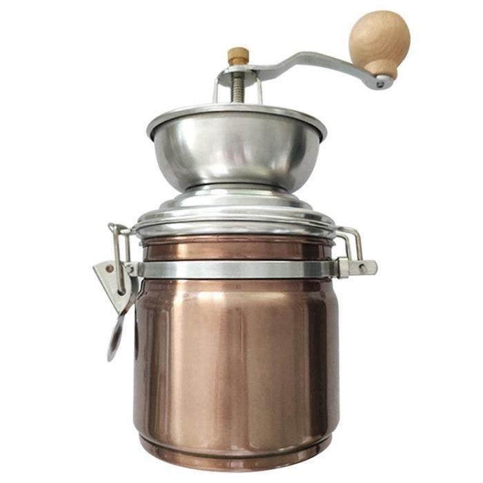 Cuisine Durable Cuisine Multifonctionnel Burr Mill Grains de Café Grinder Manivelle Accessoires Faits à la Main Maison en Acier