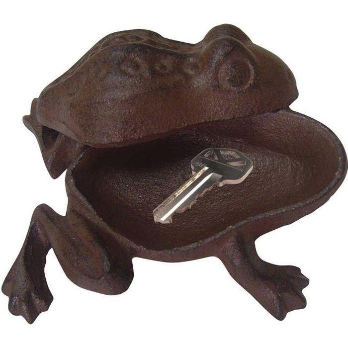Cache cles grenouille en fonte