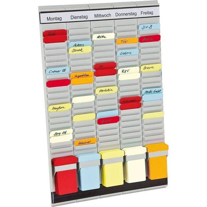 Franken PV1 Organiseur de bureau avec cartes en T et en-têtes en allemand 20 pièces 31,5 x 49 cm - PV-SET1