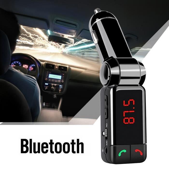 Gosear® transmetteur FM voiture Double Port USB MP3 SD Voiture Bluetooth Sans Fil Lecteur Parleur