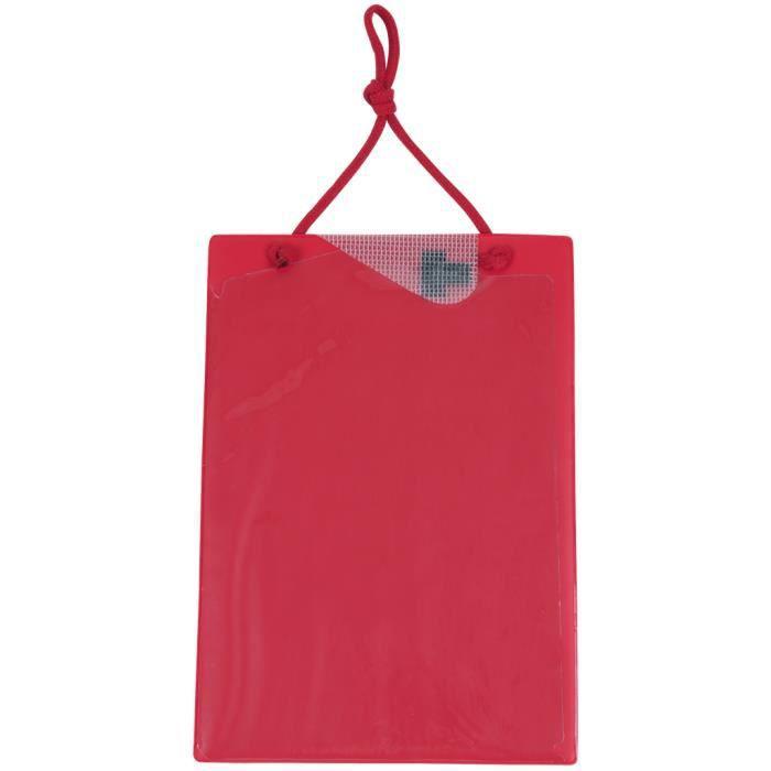 Tablette de fiche de travaux A4 avec sacoche pour clés - Rouge - KS TOOLS