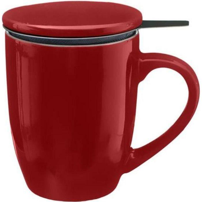 Mug à thé Tisanière Rouge
