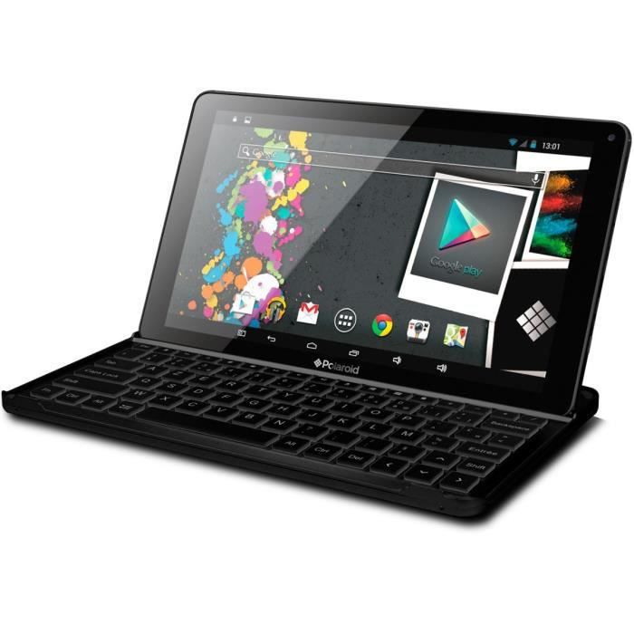 Polaroid Tablette Infinite+ 10.1'' HD + Clavier Bluetooth - 1Go RAM - Android 5.1 - Quad Core - ROM 16Go - WiFi/Bluetooth - Noir
