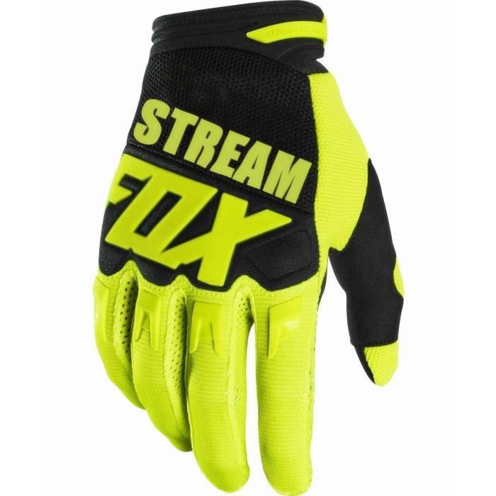 Gants vélo,2020 vapeur FOX Motocross gants Moto course gants BMX ATV vtt hors route Moto gants VTT gants de VTT - Type Jaune