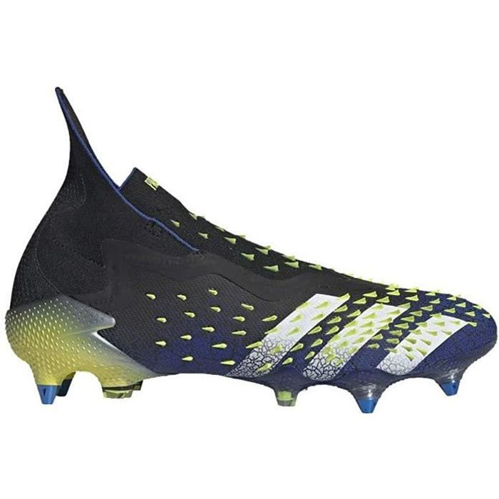 Adidas Predator Freak + Sg, Chaussures de Football, Black-White-Solar Jaune, Taille 8 UK (42 Eu )