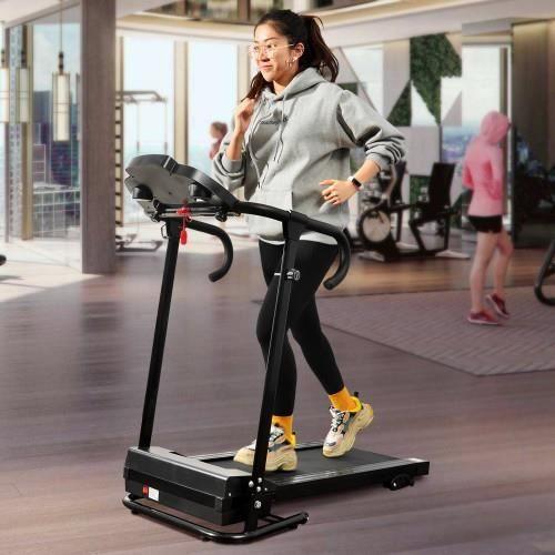 Stocké en Europe !Tapis de Course 500 W électrique pliable machine de fitness vélo d'exercice-116 x 64 x 124 cm