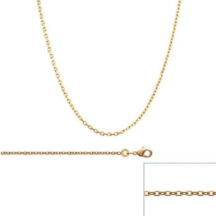 Longueur 40 45 50 55 60 70 cm Amberta/® Bijoux Largeur 1.3 mm Plaqu/é Or Ros/é 14K Cha/îne Argent 925//1000 Maille Gourmette Collier