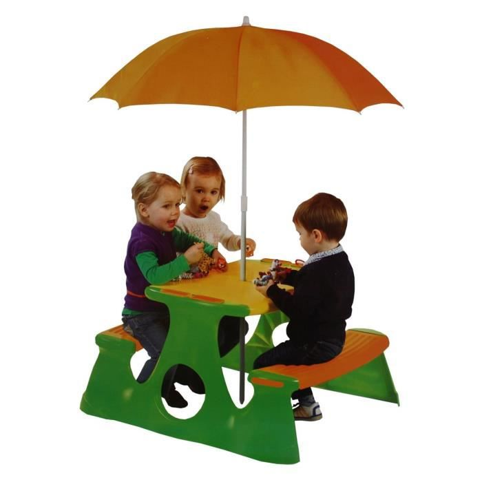 table enfant avec parasol jardin achat vente salon de jardin table enfant avec parasol j. Black Bedroom Furniture Sets. Home Design Ideas