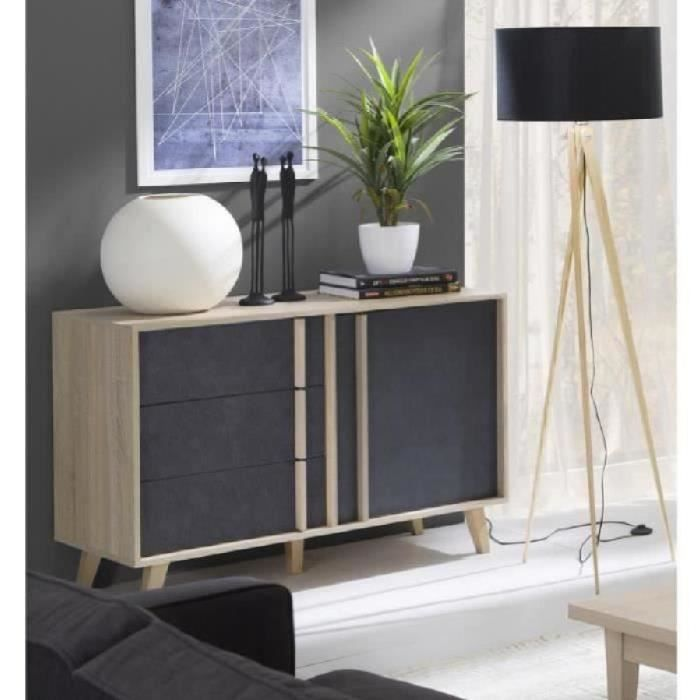 meuble scandinave achat vente meuble scandinave pas cher cdiscount. Black Bedroom Furniture Sets. Home Design Ideas