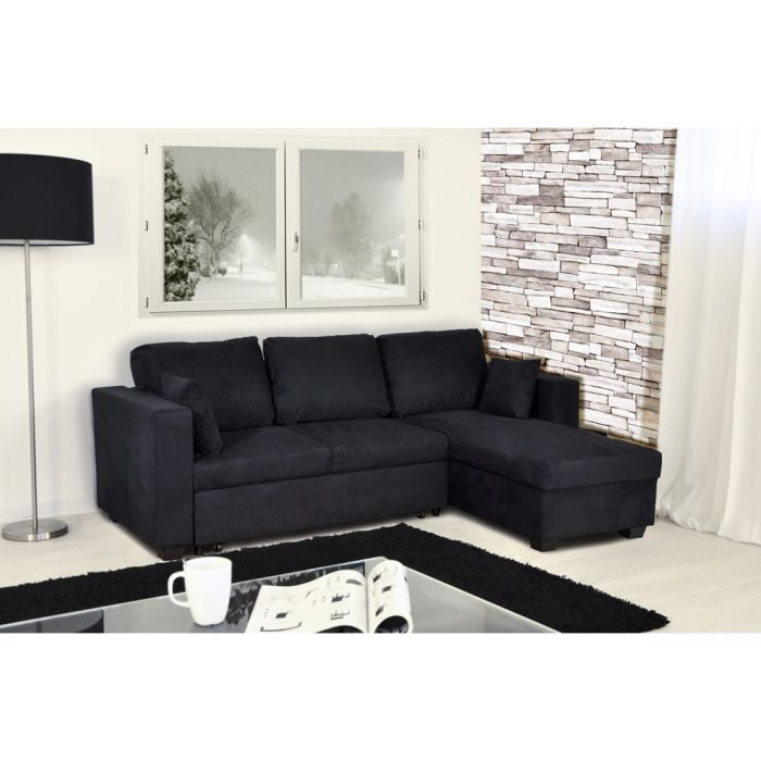 canap d 39 angle convertible et r versible en mic. Black Bedroom Furniture Sets. Home Design Ideas