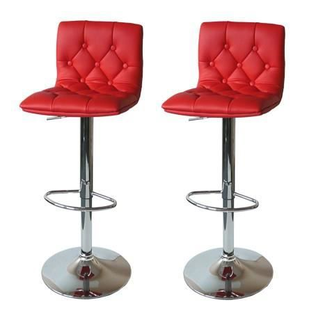2 tabourets de bar marlone rouge fa on cuir achat vente tabouret de bar - Cdiscount tabouret de bar ...