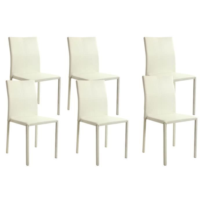 lot de 6 chaises empilables blanches desire achat. Black Bedroom Furniture Sets. Home Design Ideas