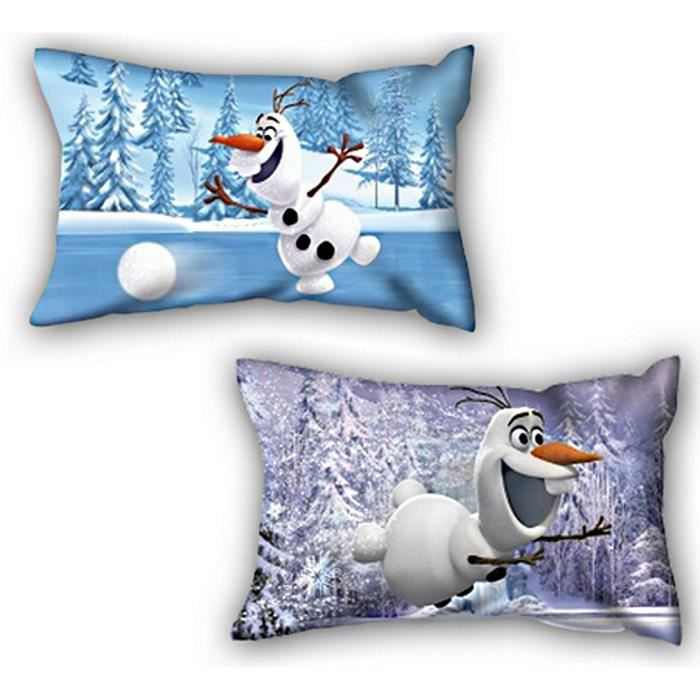 1 coussin reine des neiges olafdimensions 35 x 22. Black Bedroom Furniture Sets. Home Design Ideas