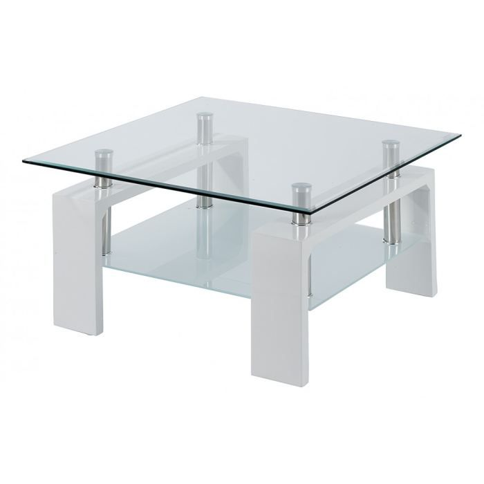 Table basse laqu blanc carr e isabelle id 39 clik achat vente table bas - Table basse blanc laque cdiscount ...