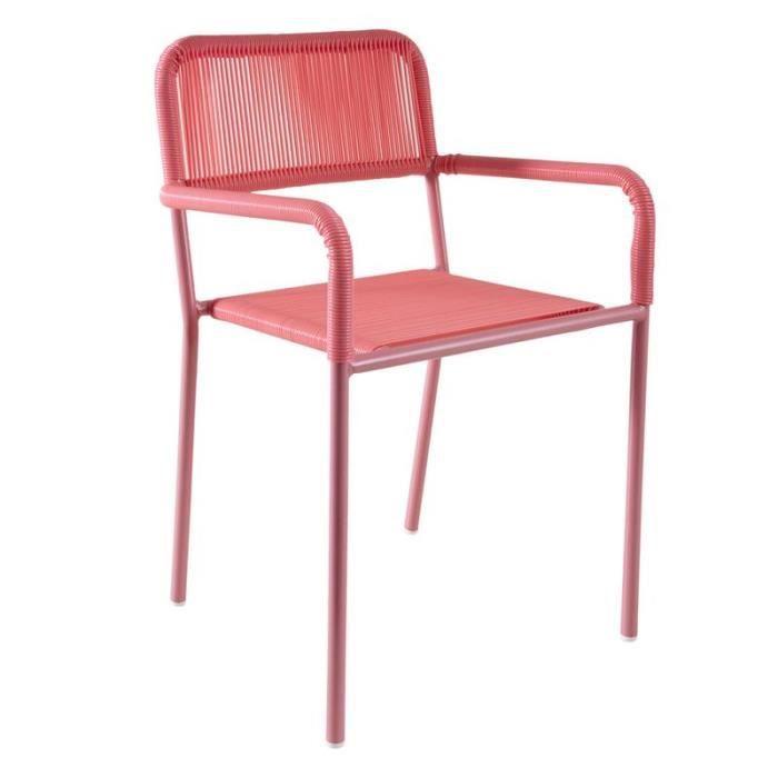 Chaise de jardin pour enfant en plastique rose