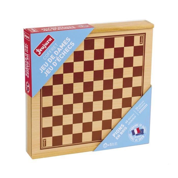 Homyl 32pcs Jeux /échecs Pion Color/é Jeux De Soci/ét/é Backgammon Dame Chessman Jouet Enfant Adulte