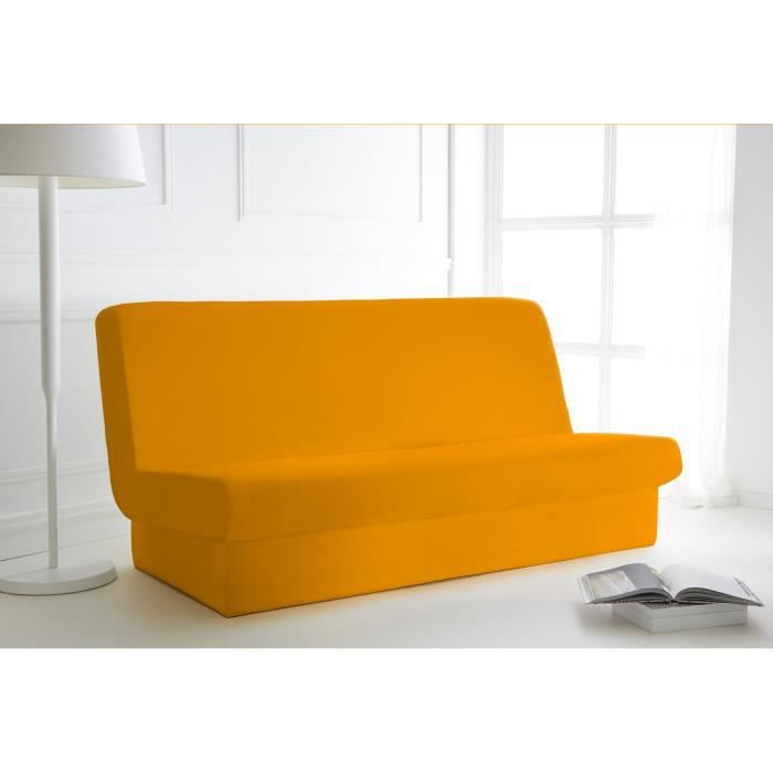 Housse de clic clac polyester 135x195 vend orange achat for Housse clic clac orange