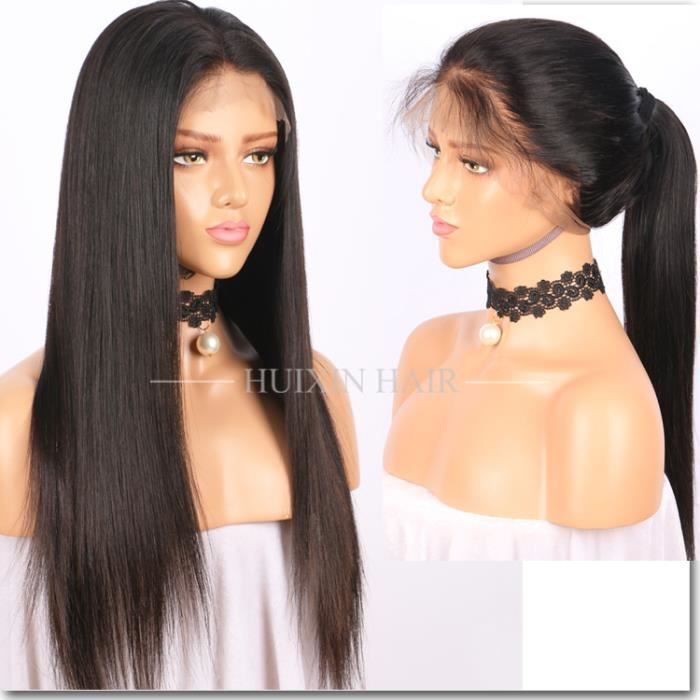full lace wig perruque cheveux bresiliennes naturel lisse. Black Bedroom Furniture Sets. Home Design Ideas