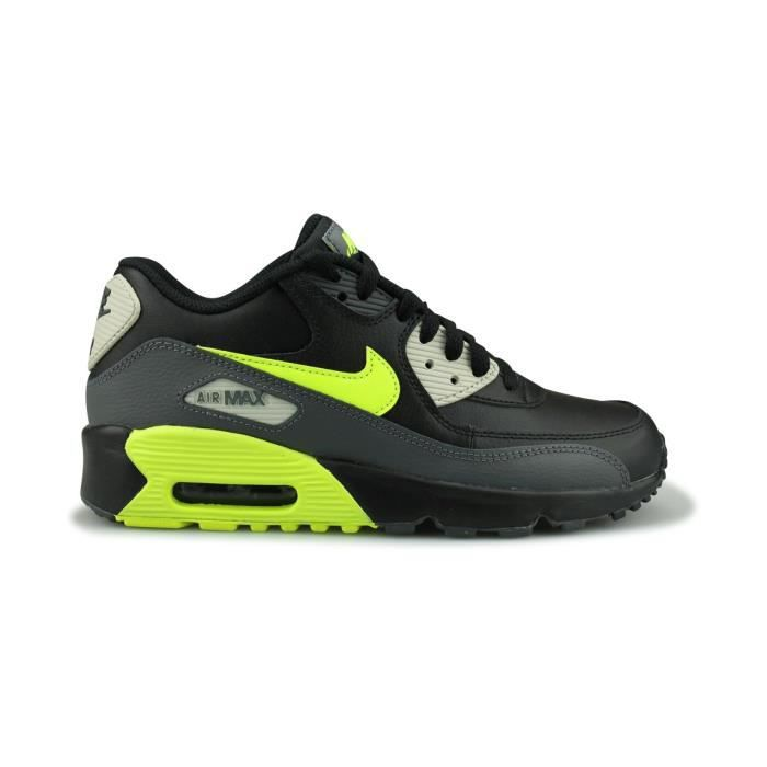 Nike Air Max 90 Leather Junior Noir (38) Noir - Cdiscount Chaussures
