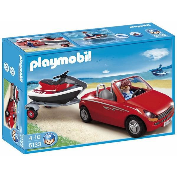 playmobil 5133 voiture avec remorque et jet ski achat vente univers miniature cdiscount. Black Bedroom Furniture Sets. Home Design Ideas
