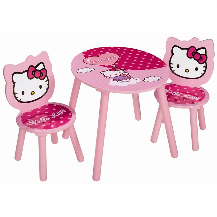 Hello kitty table enfant 2 fauteuils achat vente - Table chaise hello kitty ...