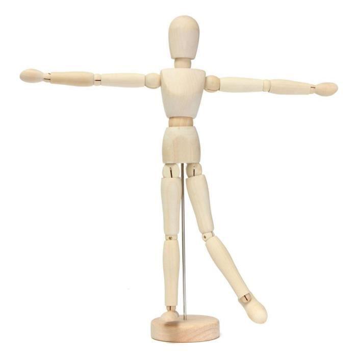 20cm Artina Mod/èle de dessin F/éminin Dali Figurine pour esquisse En bois Mannequin proportion humaine position r/églable