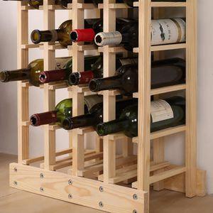MEUBLE RANGE BOUTEILLE Étagère à vin pour 44 Bouteilles , casier à boutei