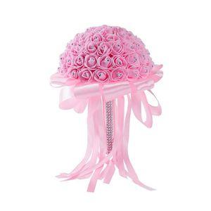 FLEUR ARTIFICIELLE ROSE bouquet de fleur boule de rose artificiel pou