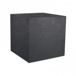 JARDINIÈRE - BAC A FLEUR Pot carré Volcania Gris Anthracite - 49x49x49cm 57