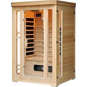 KIT SAUNA  Sauna Infrarouge Luxe 2 personnes - Chromothérapie