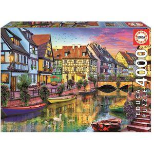 PUZZLE EDUCA - Puzzle Canal de Colmar 4000 pcs
