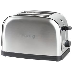 GRILLE-PAIN - TOASTER H.KOENIG TOS7 - Grille-pain 2 tranches - Inox