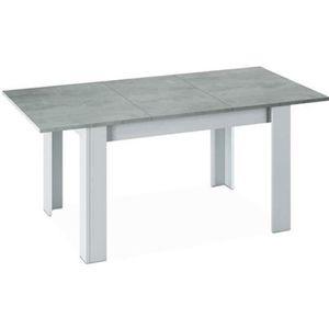 TABLE À MANGER SEULE Table a manger Extensible décor béton et blanc Art