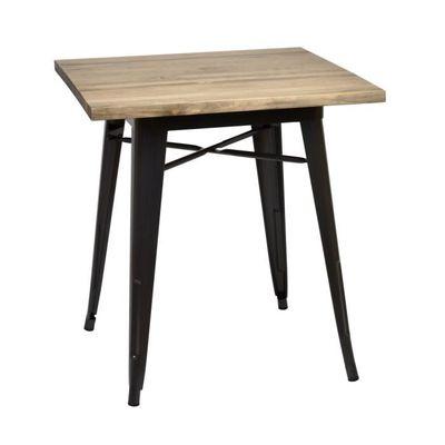 Table Salle A Manger Tudix 70x70 75cm Haute Plateau En Bois Massif