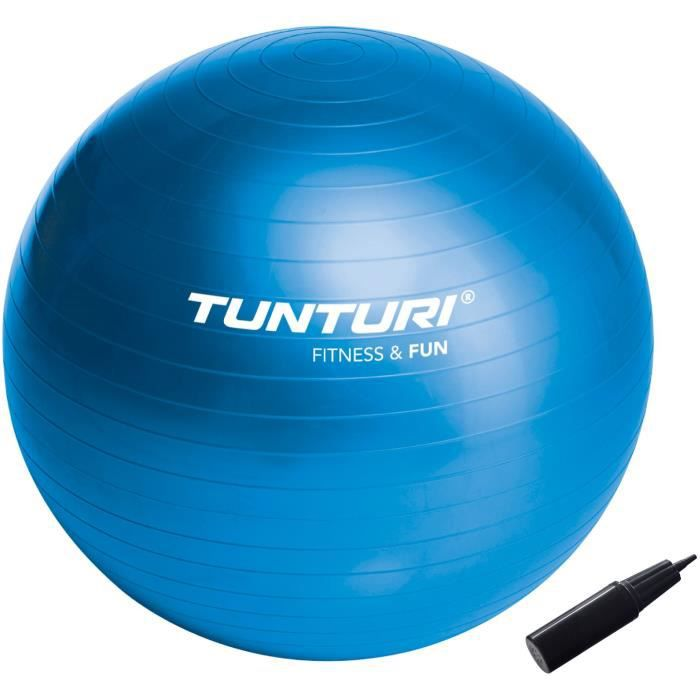 TUNTURI Gym ball ballon de gym 55cm bleu