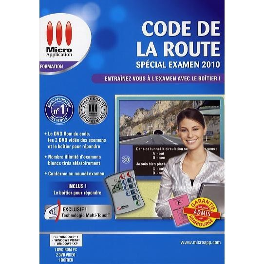 code de la route special examen 2010 pc dvd rom prix pas cher cdiscount. Black Bedroom Furniture Sets. Home Design Ideas