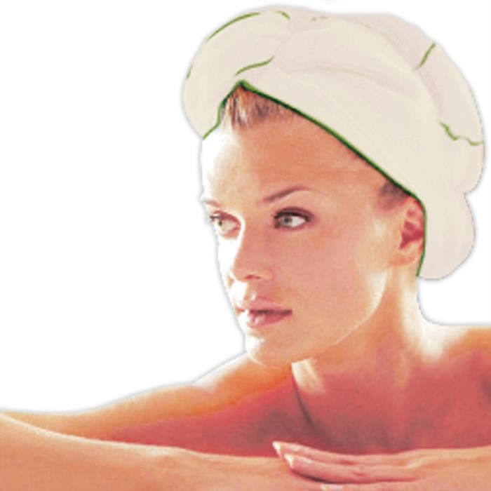 Turban sèche cheveux bambou, serviette cheveux fibres naturelles de bambou, serviette séchage rapide
