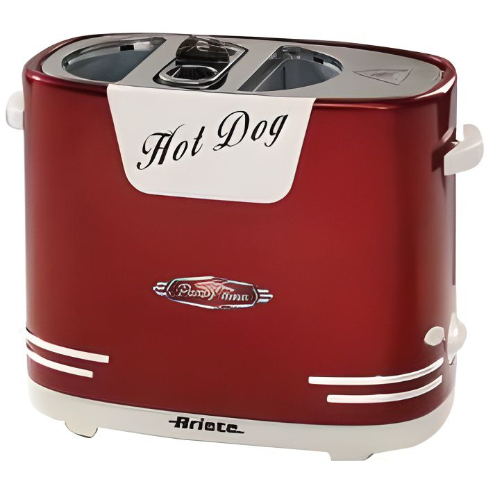 Ariete Appareil à hot-dog Party Time 650 W Rouge