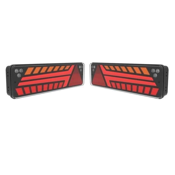 Feux Arriere Full LED 12-24V 7 Fonctions 52 x 14.6 cm Pour Camion Scania Man Daf