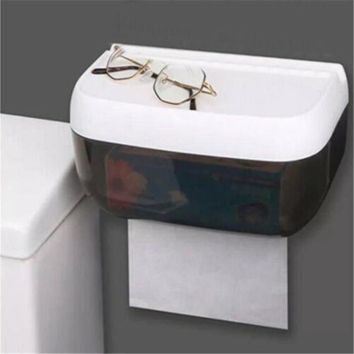 Plateau de toilette Salle de bain Fixé au mur Boîte à mouchoirs de salle de bain étanche sans poinçon D - Mishuowoti 3330