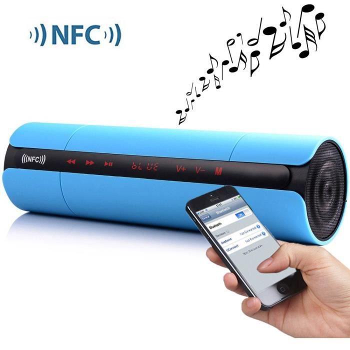 NFC FM HIFI Bluetooth Speaker enceintes portables stéréo sans fil Bluetooth Boombox Super Bass MP3 Player