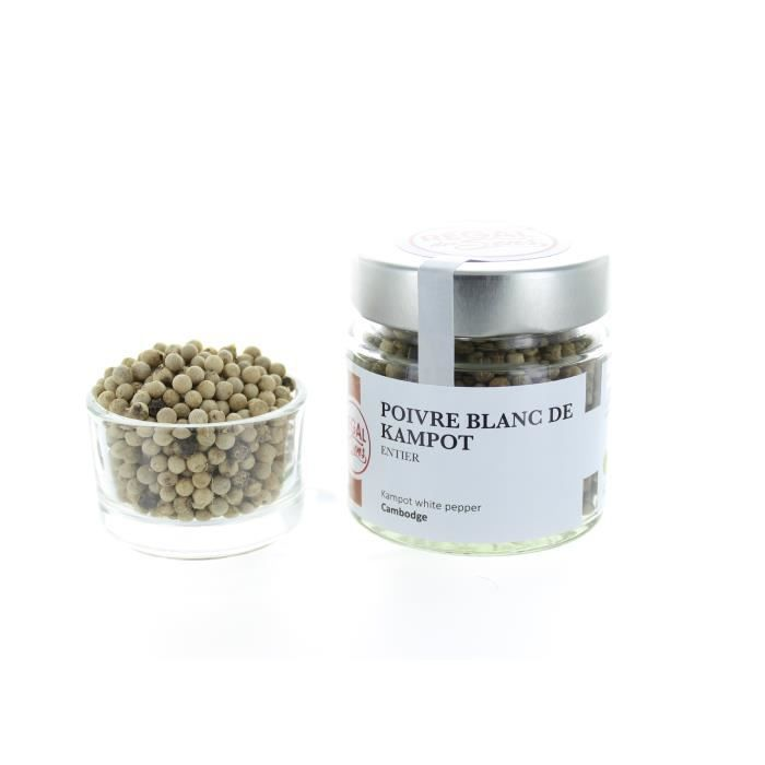 Poivre blanc de Kampot - Pot 70 g