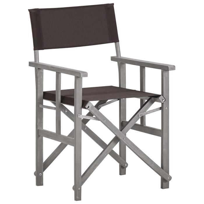 Chaise de metteur en scène Bois massif d'acacia♫8809